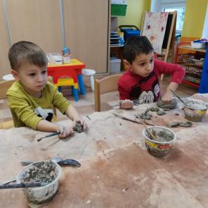 Keramika ve školkách - MŠ HORNÍ POLICE