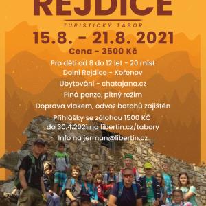 Letní turistický tábor Rejdice 2021