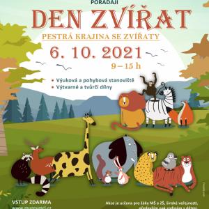 Den zvířat - pestrá krajina se zvířaty